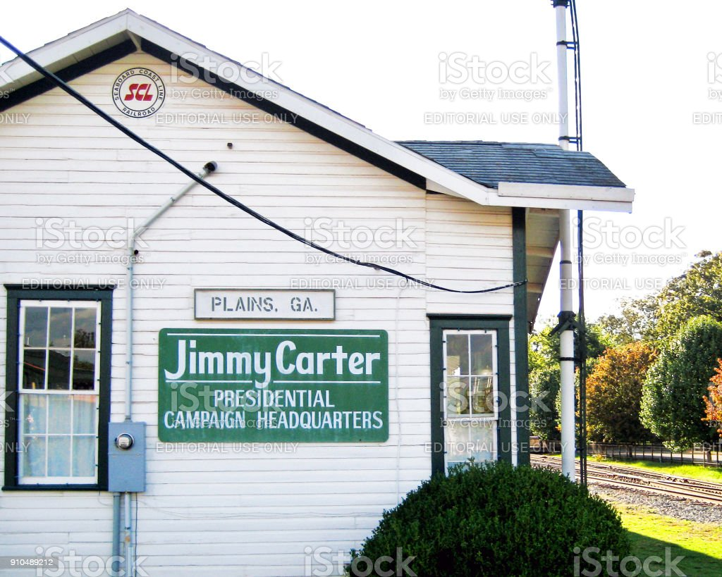 Jimmy Carter's campaign office stock photo
