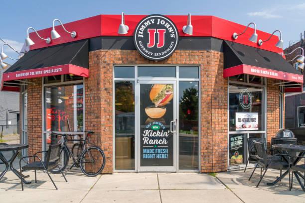 Jimmy John's Restaurant Exterior stock photo
