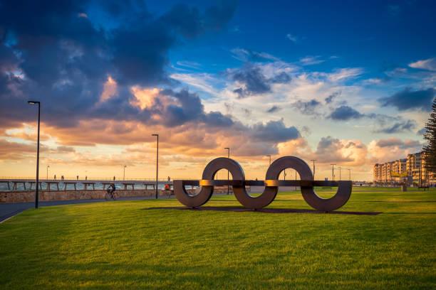 Jimmy Melrose Park in Glenelg, South Australia stock photo