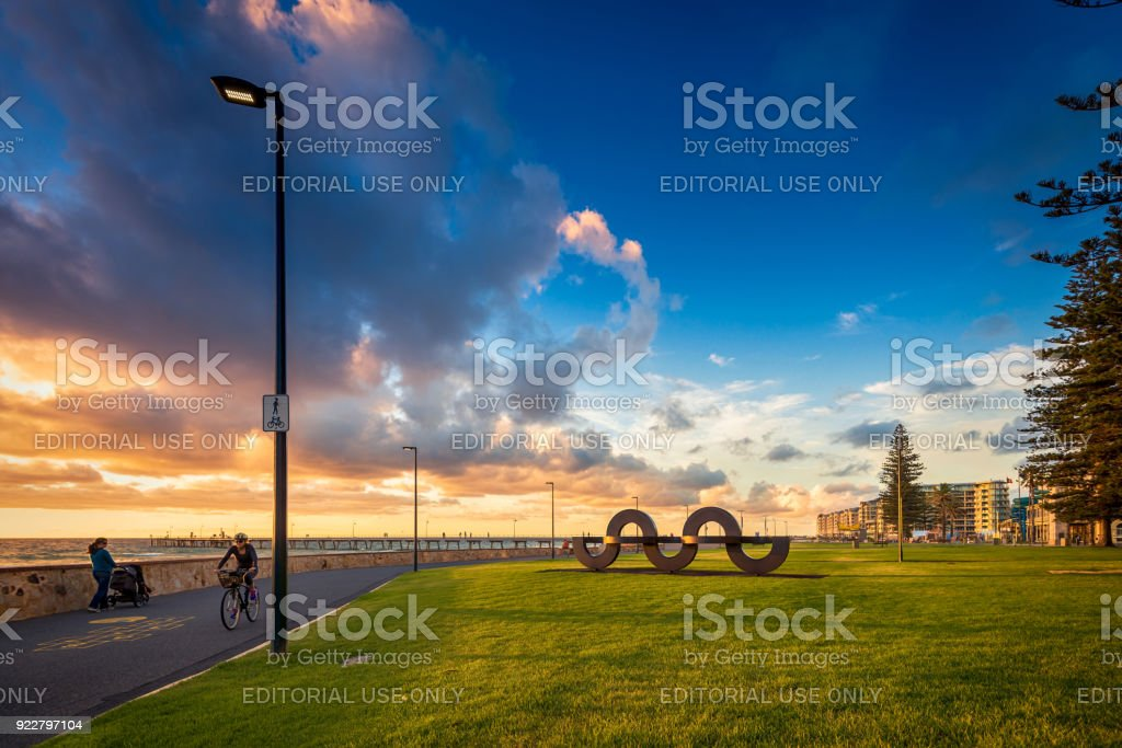 Jimmy Melrose Park in Glenelg, South Australia stock photo