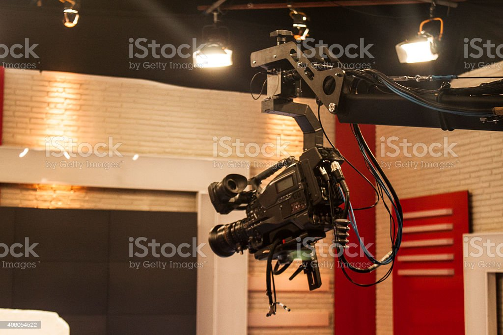 Jimmy video camera studio shooting stock photo