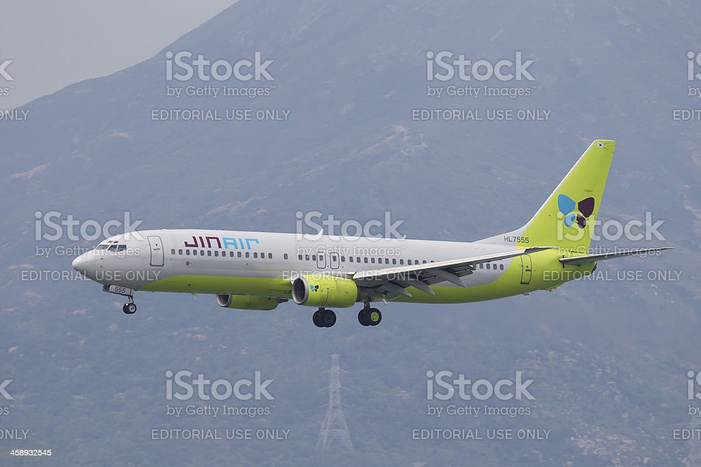 Jin Air Boeing 737 royalty-free stock photo