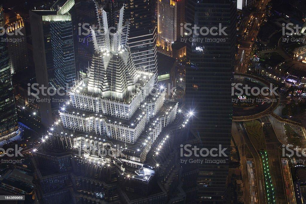 Jin Mao Tower in Shanghai, China 金茂大厦 royalty-free stock photo