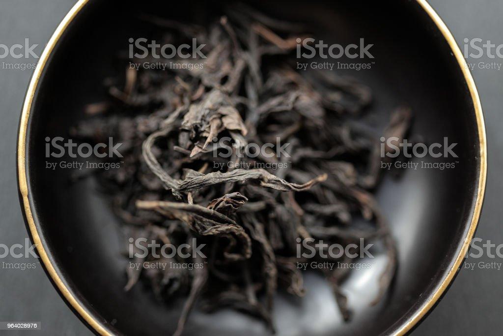Jin Mu Dan, Oolong Tea - Royalty-free Black Color Stock Photo