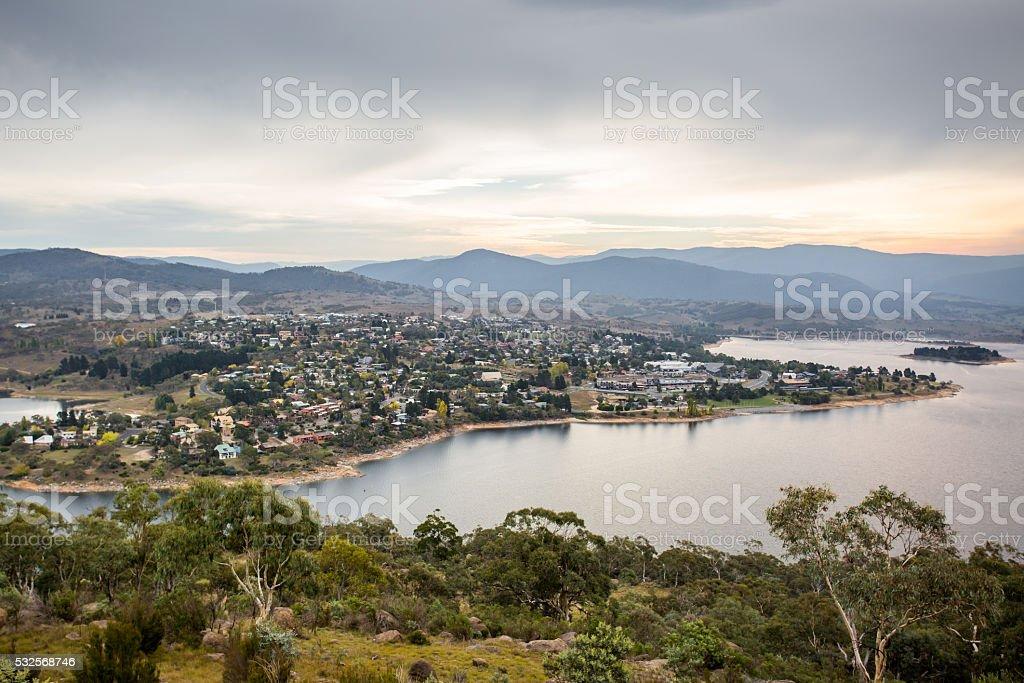 Jindabyne View stock photo