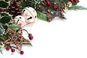 istock Jingle bell and star Christmas border 119698950