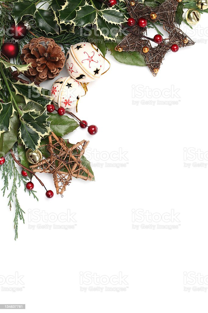 Jingle bell and star Christmas frame royalty-free stock photo