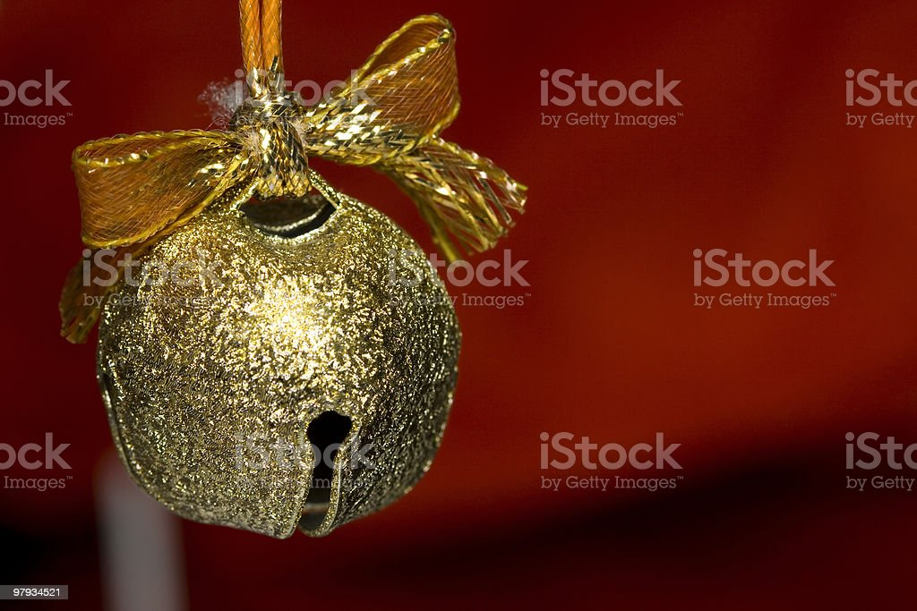jingle bell on christmas royalty-free stock photo