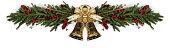 istock Jingle bells Christmas fir decoration 1280136603