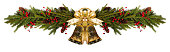 istock Jingle bells Christmas fir decoration 1287378094