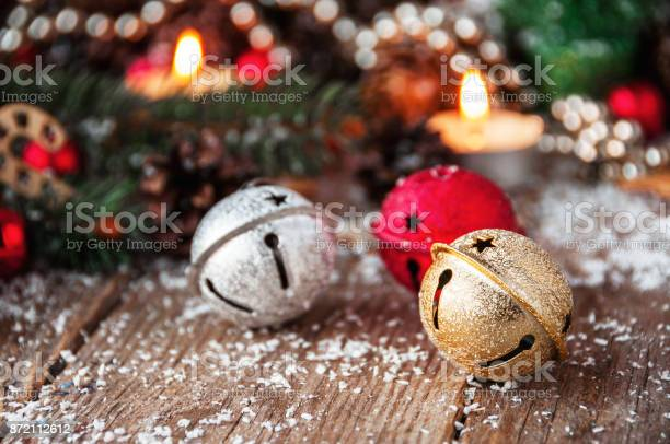 Jingle Bells Closeup Christmas Background Stock Photo Download Image Now Istock