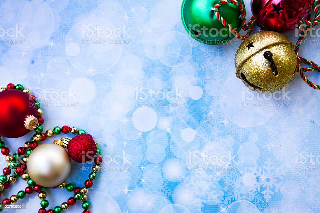 Jingle Bells with ornaments stock photo