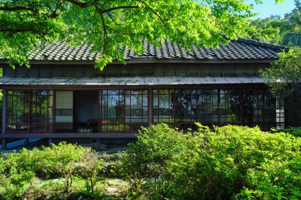 Jinguashi Crown Prince Chalet of Gold Museum. stock photo