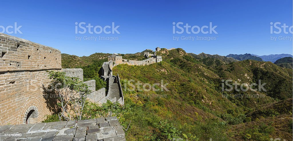 Jinshanling great wall in the morning royalty-free stock photo