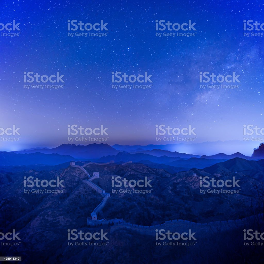 Jinshanling Great Wall stock photo