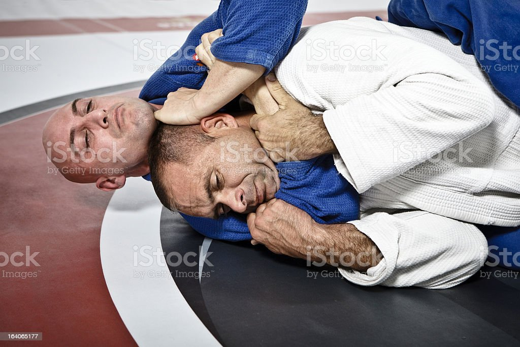 Jiu-Jitsu Submission Hold royalty-free stock photo