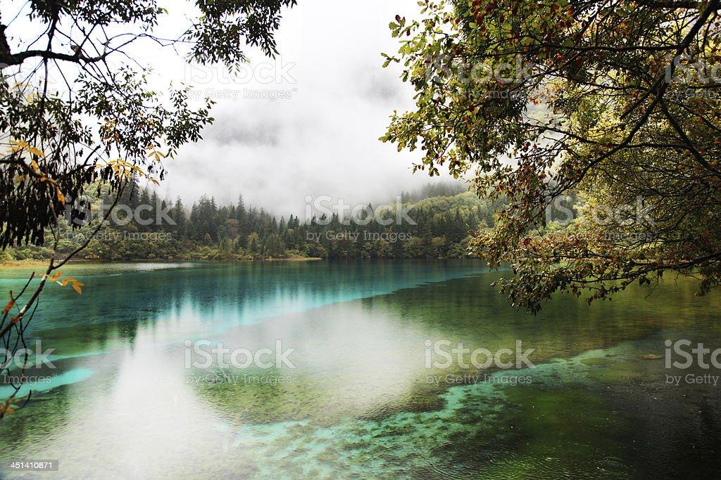 Jiuzhai Valley stock photo