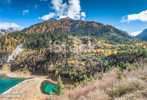 Jiuzhaigou is a nature reserve and national park located in the north of Sichuan province, China. Jiuzhaigou Valley is part of the Min Mountains on the edge of the Tibetan Plateau and stretches over 72,000 hectares.