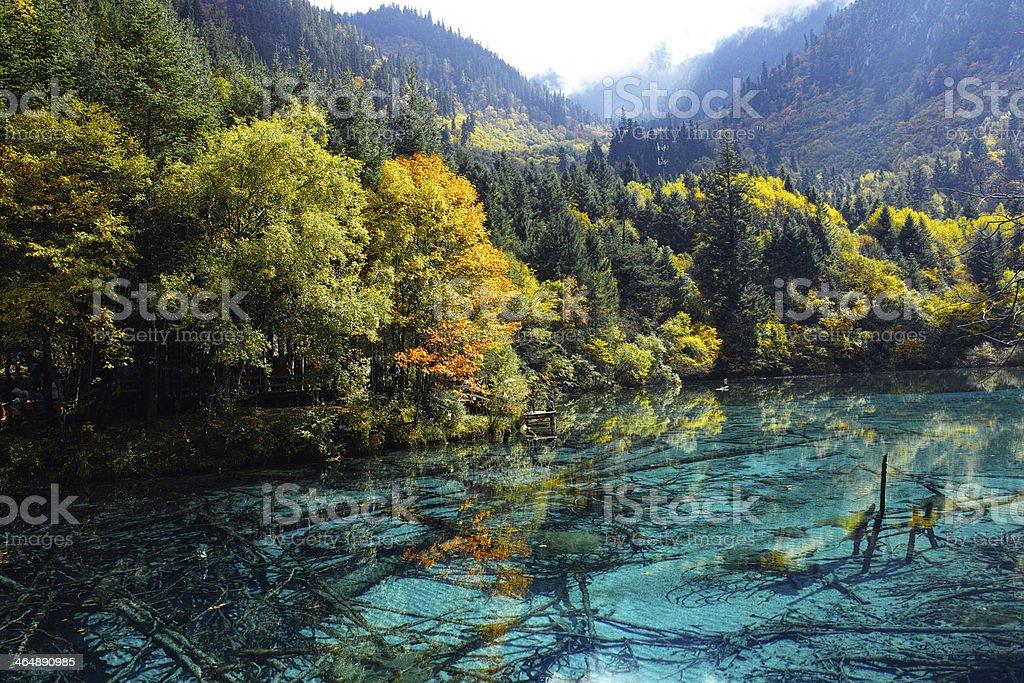 Jiuzhaigou lake stock photo