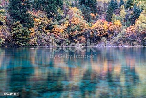 istock Jiuzhaigou Valley in Autumn, Neutral Density Long Exposure 905743918