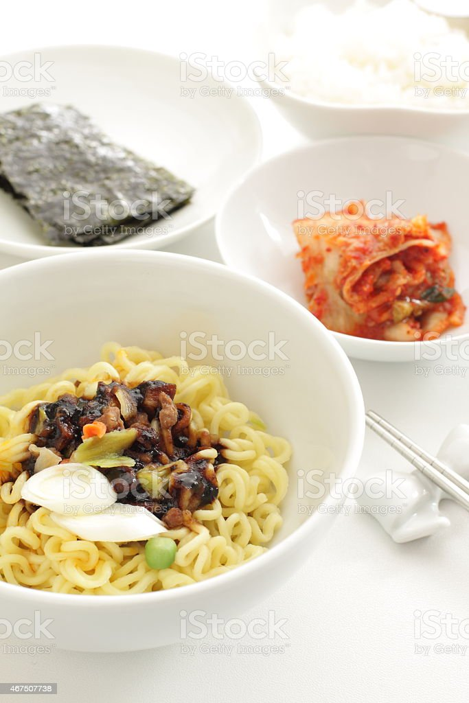 Jjajangmyun for korean food culture image stock photo istock jjajangmyun for korean food culture image royalty free stock photo forumfinder Image collections