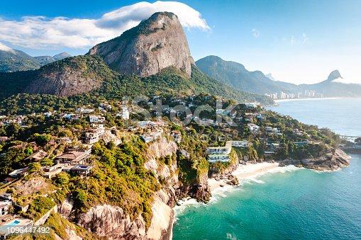 istock Joá and Pedra da Gávea aerial view at Rio de Janeiro 1096447492