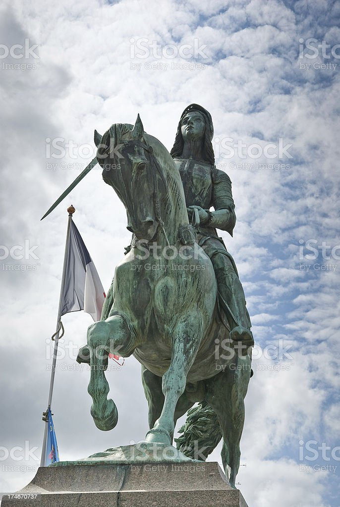 Joan of Arc statue stock photo