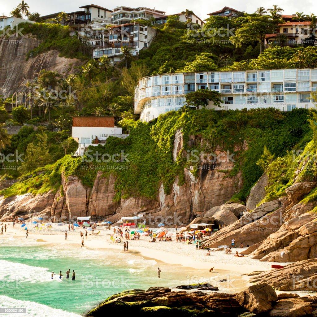 Joatinga beach (praia do Joa) in Rio de Janeiro, Brazil stock photo