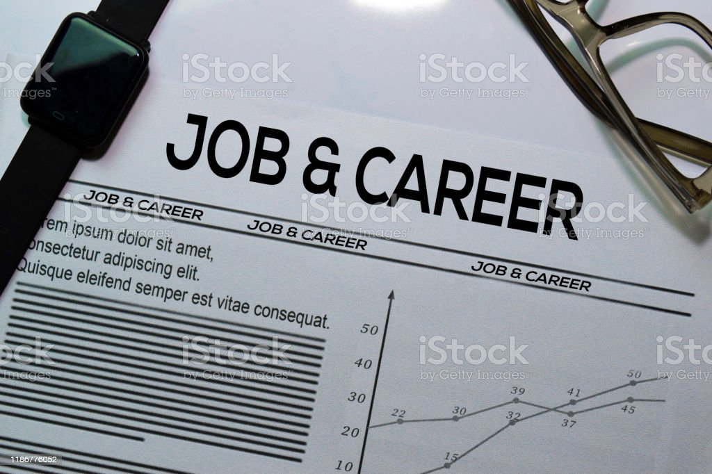 Job And Career Text In Headline Isolated On White Background Newspaper Concept Stock Photo Download Image Now Istock