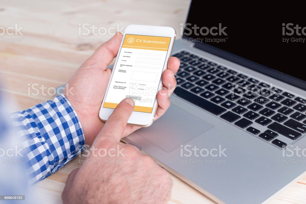 Job Application Concept stock photo