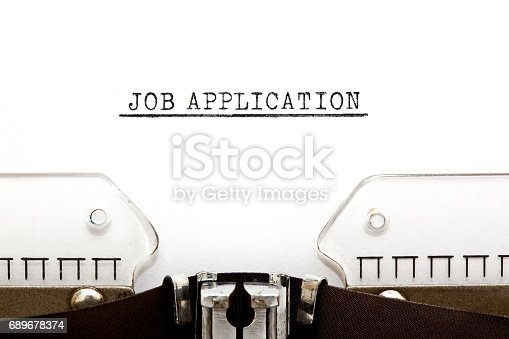 587228412istockphoto Job Application On Typewriter 689678374
