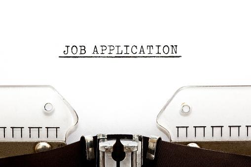 587228412 istock photo Job Application On Typewriter 689678374