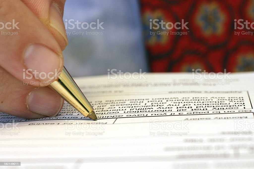 Job Application royalty-free stock photo