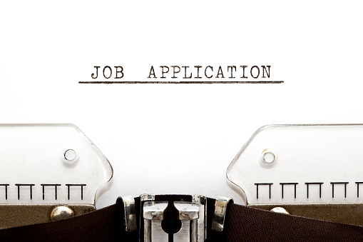 587228412 istock photo Job Application Typewriter 471827775