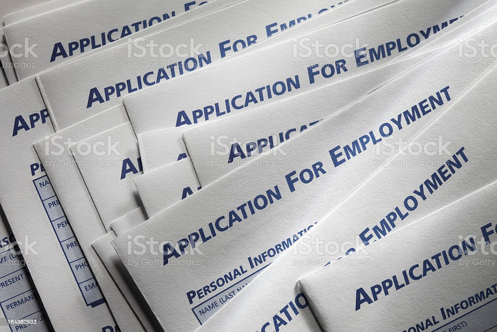 Job Applications royalty-free stock photo