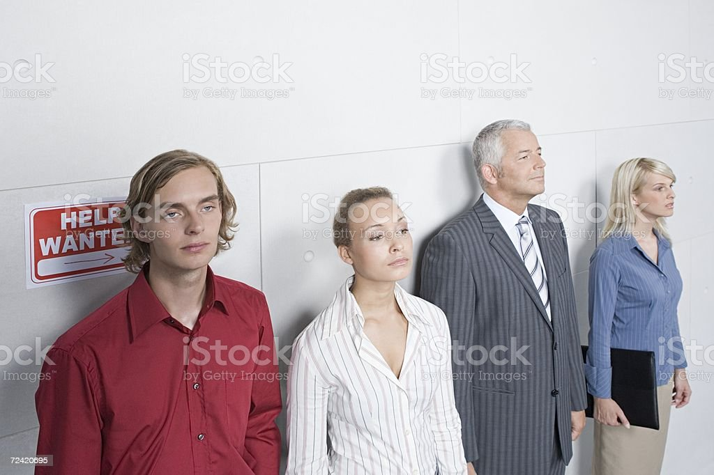 Job candidates royalty-free stock photo