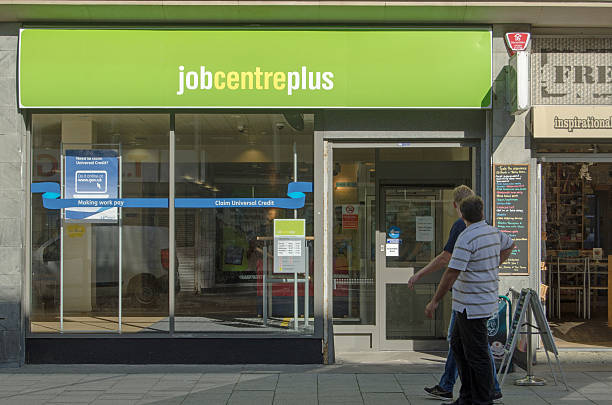 Job Centre Plus, Weston-Super-Mare stock photo