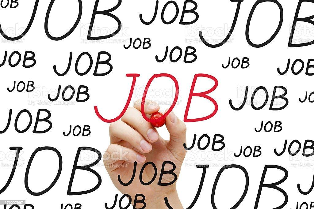 Job Concept royalty-free stock photo