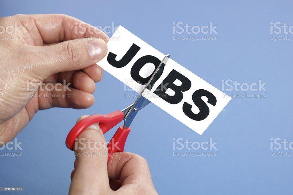 Job cuts stock photo