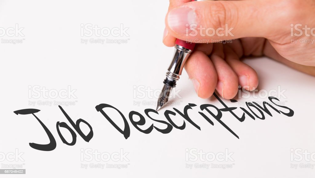 Job Descriptions stock photo
