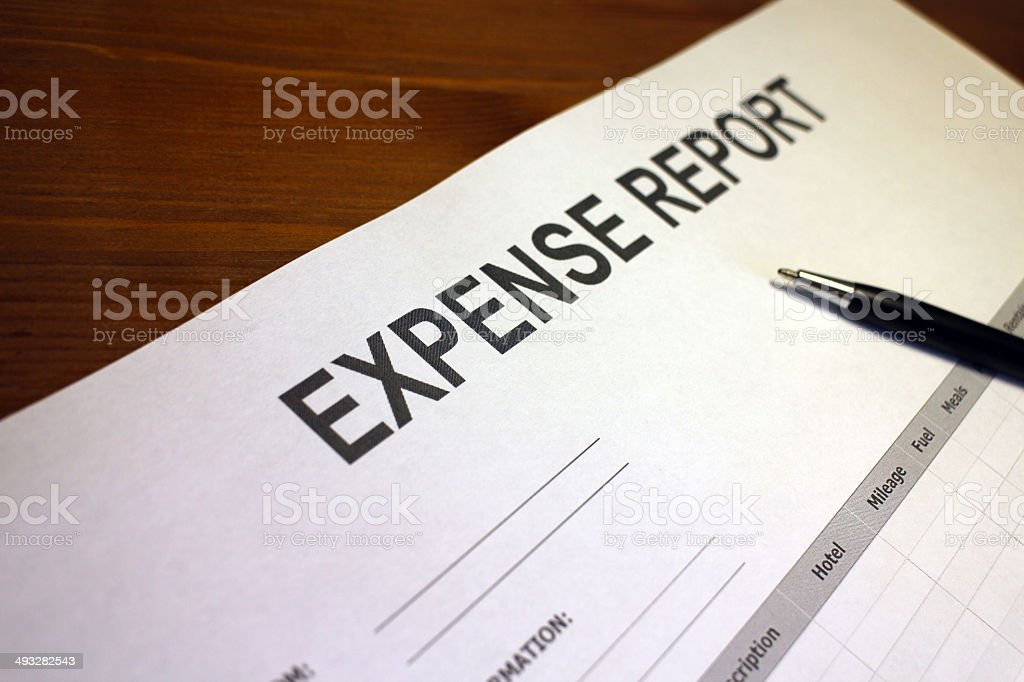 job expense report form stock photo more pictures of analyzing