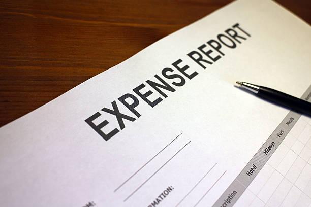 Job Expense Report Form stock photo