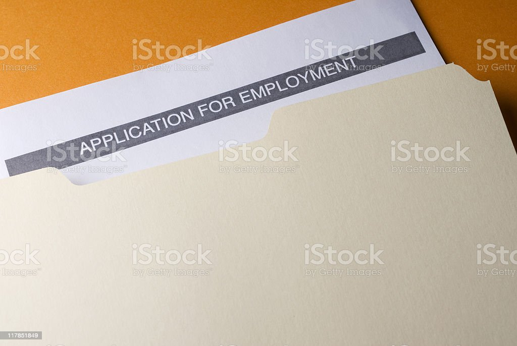 Job Folder royalty-free stock photo