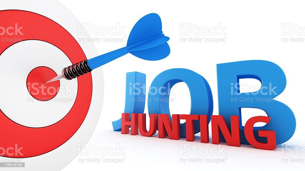 Job hunting concept royalty-free stock photo