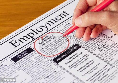 istock Job in the Employment Section of Newspaper 176994585