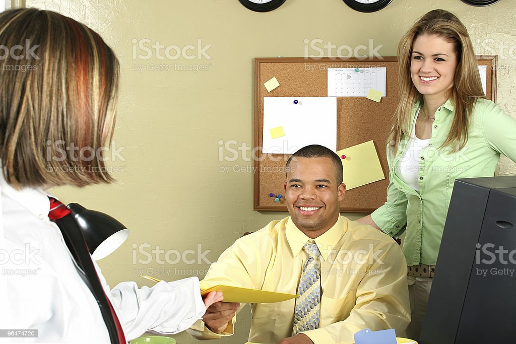 Job Interview Application royalty-free stock photo