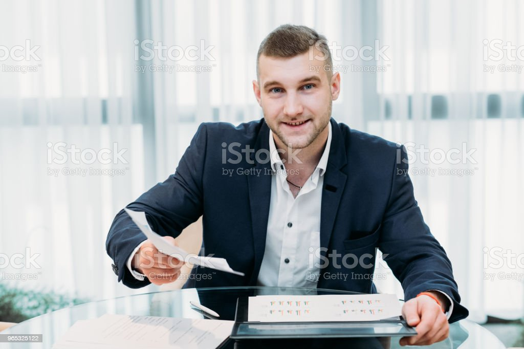 job interview business man resume recruiter office royalty-free stock photo