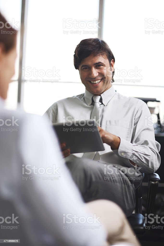 Job interview business meeting. royalty-free stock photo