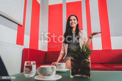 istock Job interview candidate 696257380