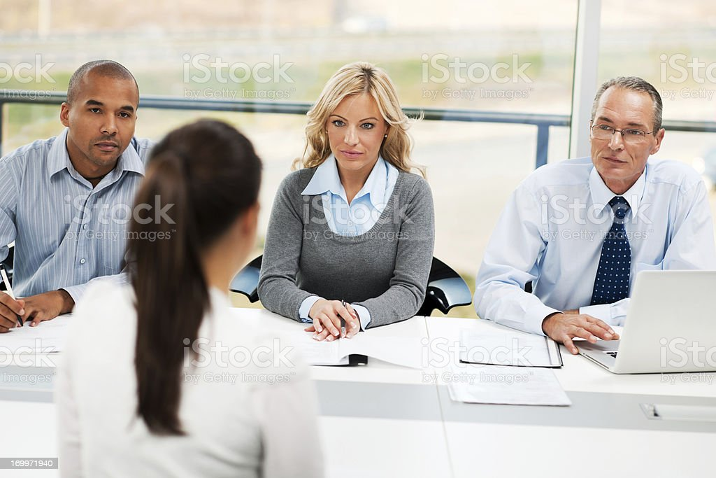 Job interview Group of business people having a meeting royalty-free stock photo